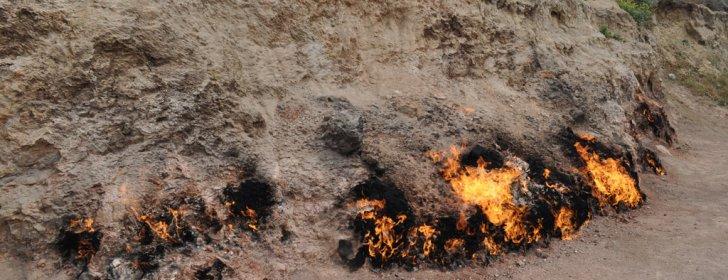 Янардаг – горящая гора вблизи Баку