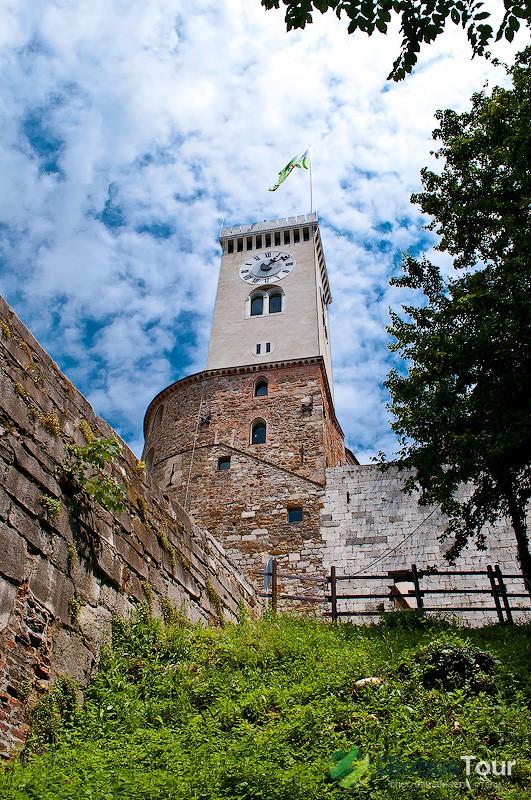 Главная башня и смотровая площадка в Люблянском замке
